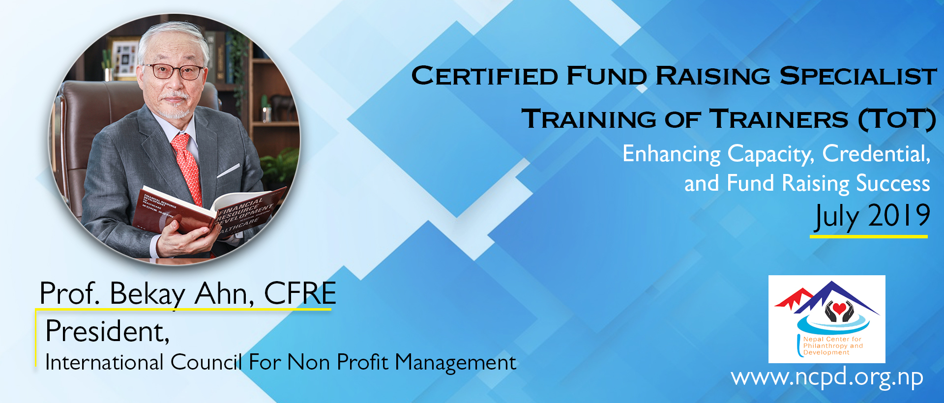 Course Announcement Certified Fund Raising Specialist (CFRS) Training of Trainers (ToT)